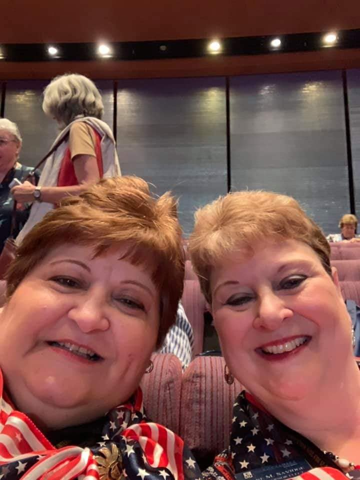 Title: Treasurer Karen and Governor-elect Diane at SI Convention